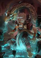 Howling Dragons - Lightning by orochi-spawn