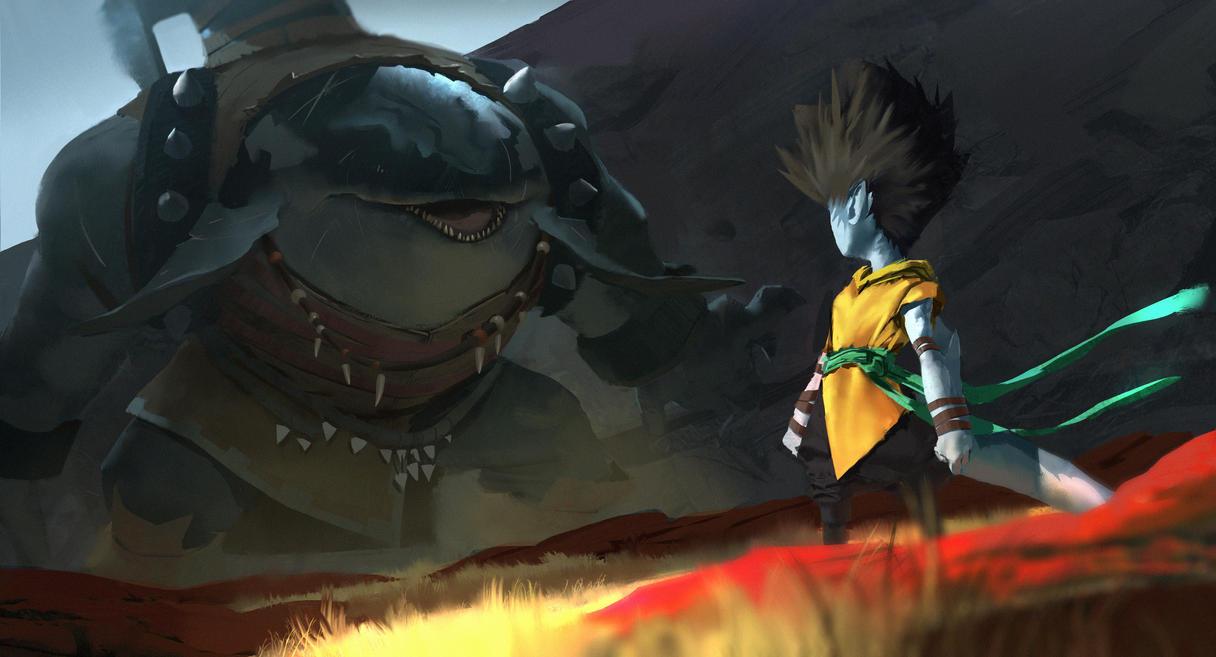 Shark Bait vs 1 by orochi-spawn