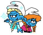 Frozen Smurfettes