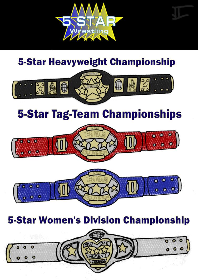Wrestling Revolution D Exhibition Title Match : Star wrestling title belts by bad people on deviantart