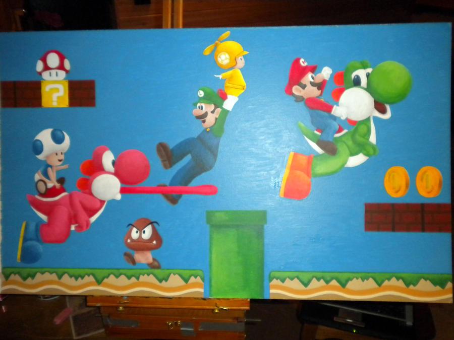 Super Mario Bros Wii Painting By Britkneemo On Deviantart