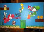 Super Mario Bros Wii Painting
