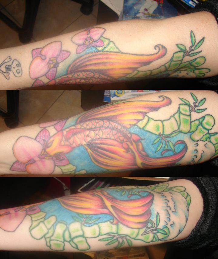 Koi pond tattoo by britkneemo on deviantart for Koi pond tattoo