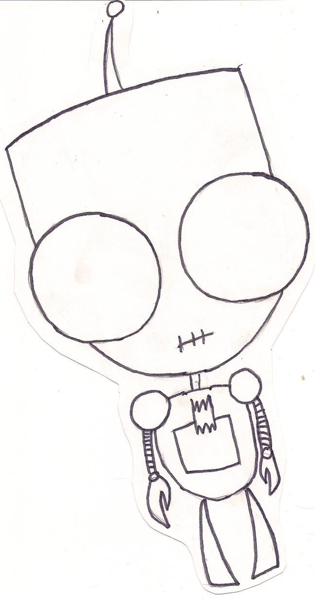 Gir in robot form by GhostNyght on DeviantArt