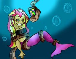 [Commission]Pinkish Mermaid by BillCiphersPuppet