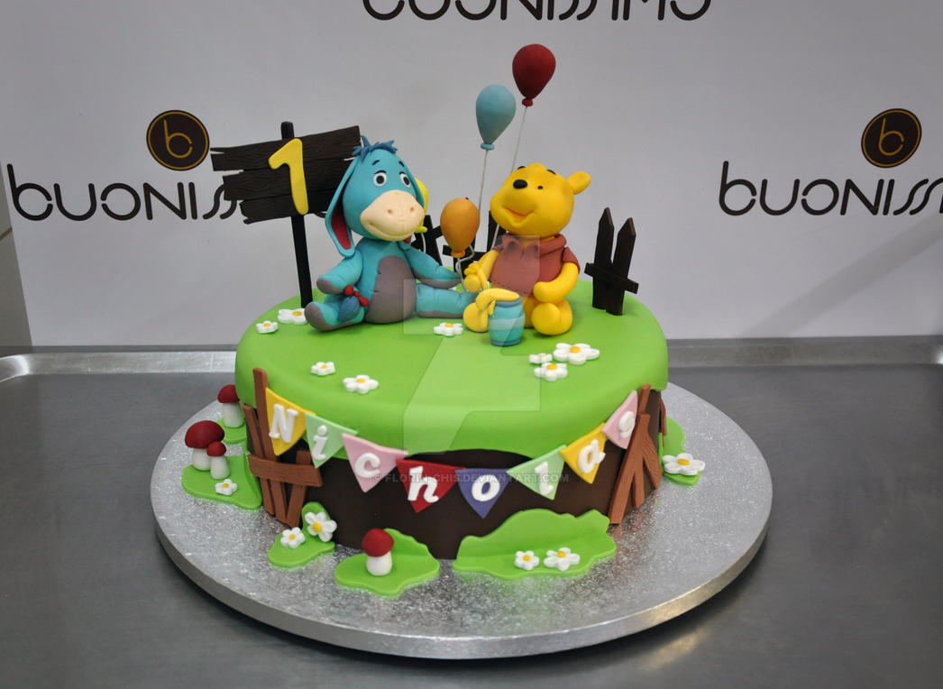 Winnie The Pooh Fondant Cake By Florin Chis On Deviantart