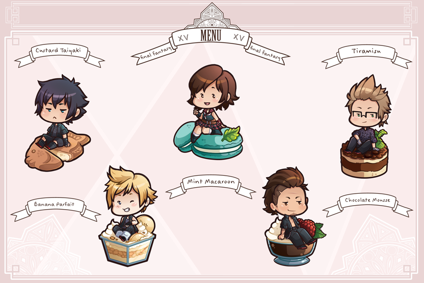 FFXV: Chibi Sweets (Set 1) by Re-DEE-Mer