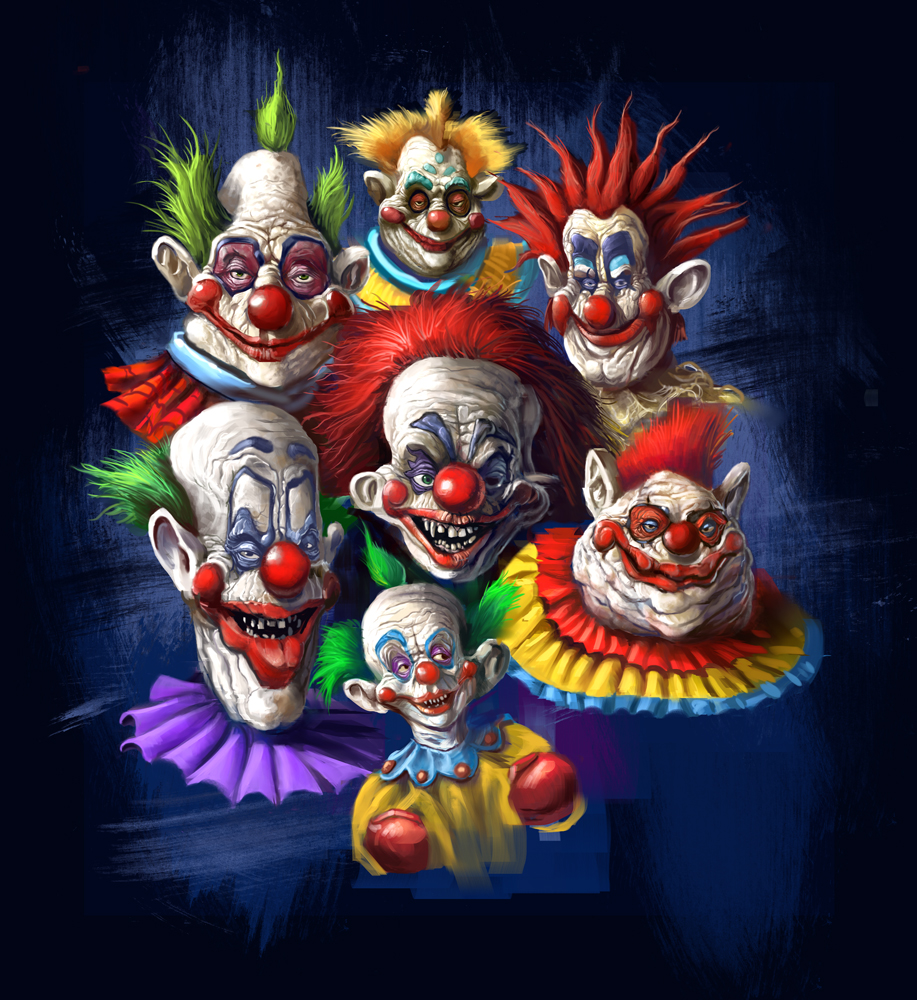 Killer klown t shirt design by grimbro on deviantart for Space clowns