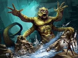 Happy Halloween! 2013 Kraken by Grimbro