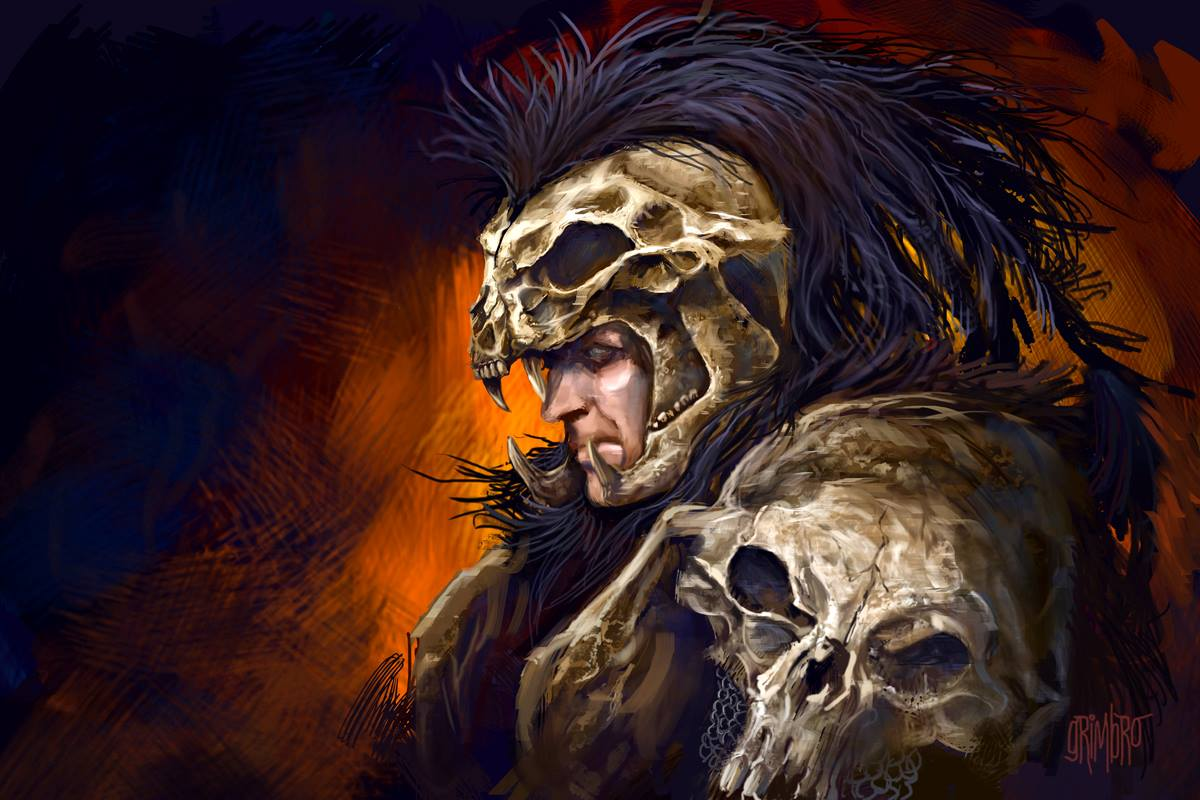 Kurgan (Brush Study) by Grimbro