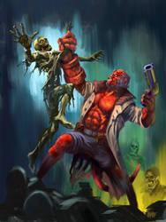 HAPPY HALLOWEEN! Hellboy by Grimbro