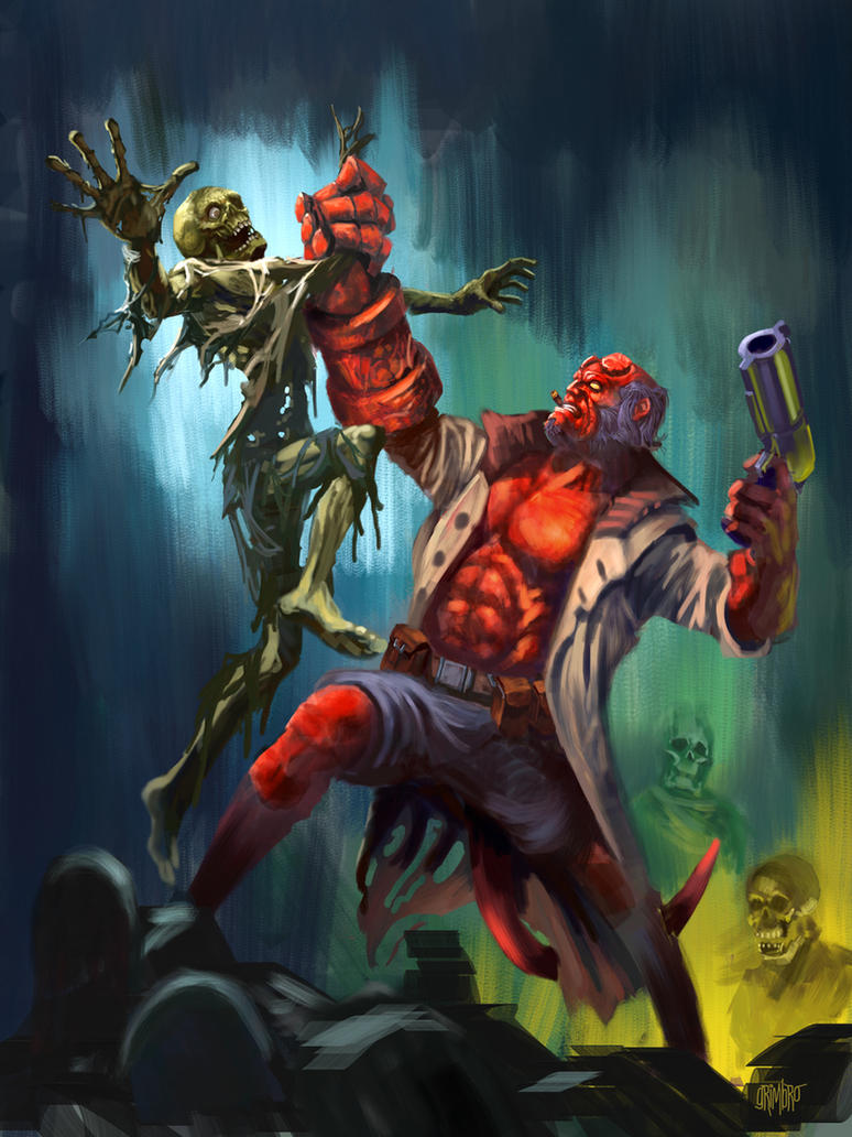 HAPPY HALLOWEEN! Hellboy by Grimbro