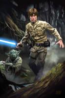 13 Nights of Halloween Day 11 Luke and Yoda by Grimbro