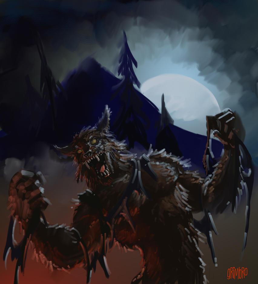SPEED PAINT 'Werewolf' by Grimbro