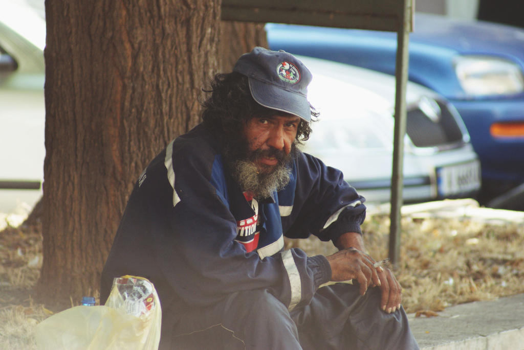 A homeless man in Bulgaria by Taychimono