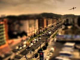 Barcelona Road-Tilt Shift by ChaosBearer
