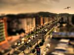 Barcelona Road-Tilt Shift