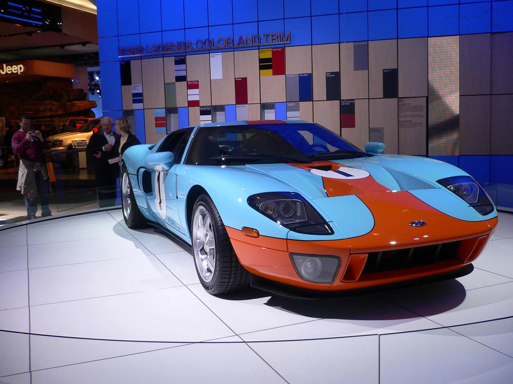 Naias  Ford Gt Blue Orange By Daatog