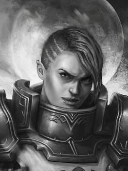 Fanart : Diablo3 crusader F Johanna
