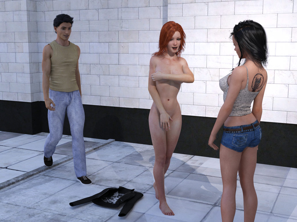 embarrassed nude