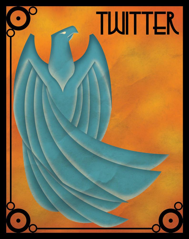 Art deco twitter poster by skullx on deviantart for Art et decoration 2012