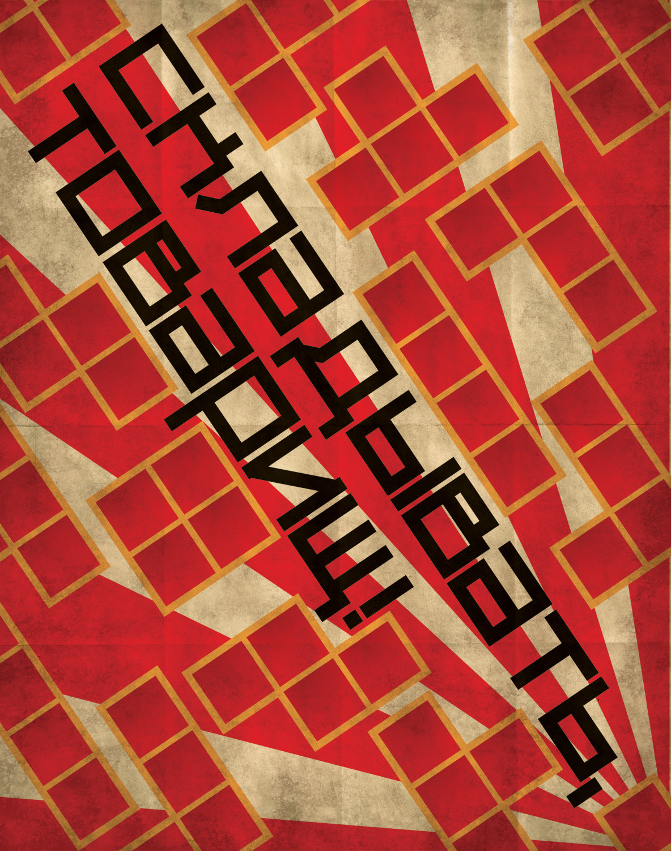 Retro Tetris Propaganda Poster by skullx
