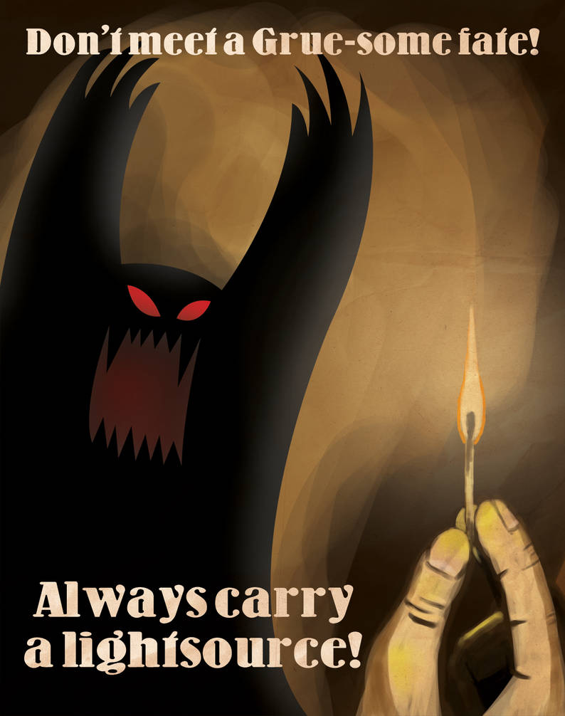 Retro Zork Propaganda Poster by skullx on DeviantArt