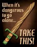 Retro Zelda Propaganda Poster