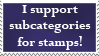 Stamp Subcategories by CassidyPeterson