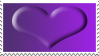 Spirit Day Purple Heart Stamp by CassidyPeterson