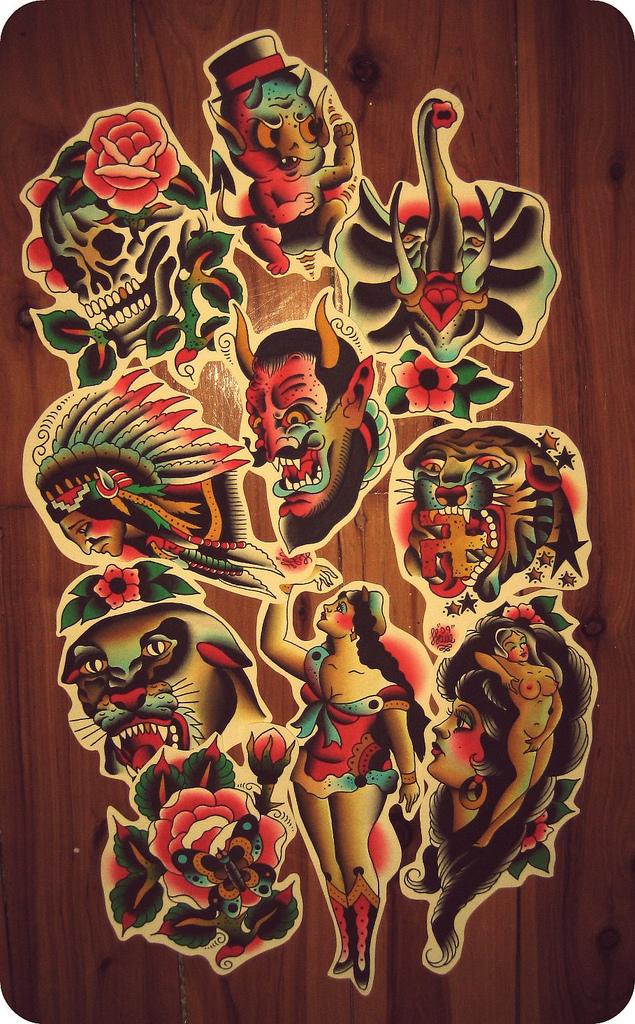 cutouts - flower tattoo