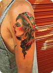 girl on arm