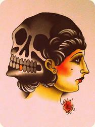 skull girl by xveganmafiax