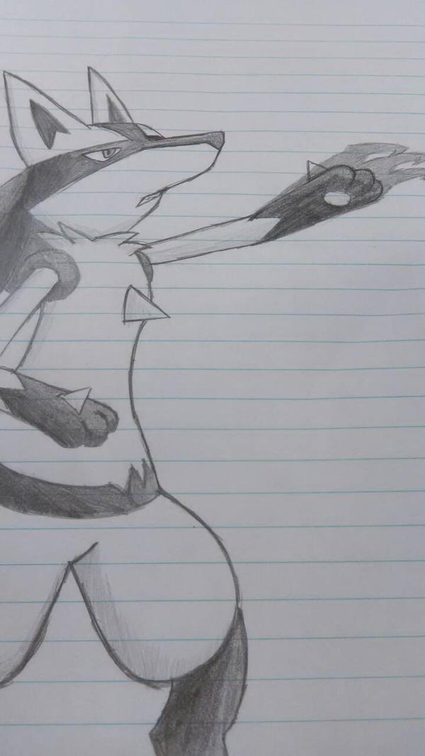Lucario use Shadowclaw! by thedaringdash