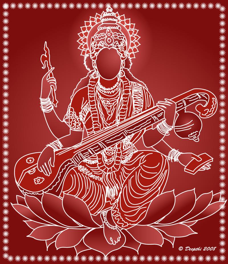 Goddess Saraswati by mickeykumar