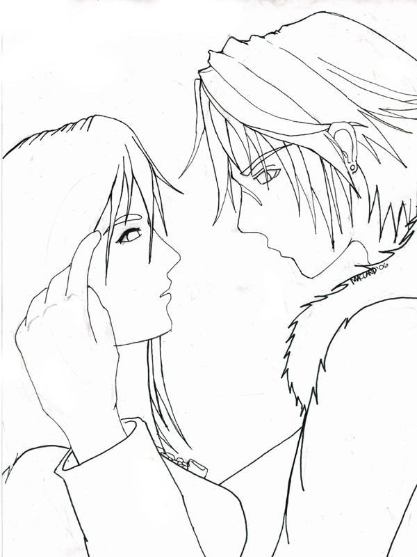 Rinoa-Squall Lineart by muzikmastamaku