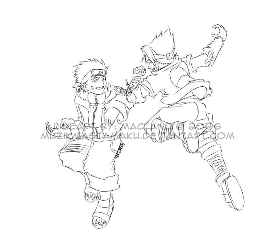 Naruto Lineart by muzikmastamaku