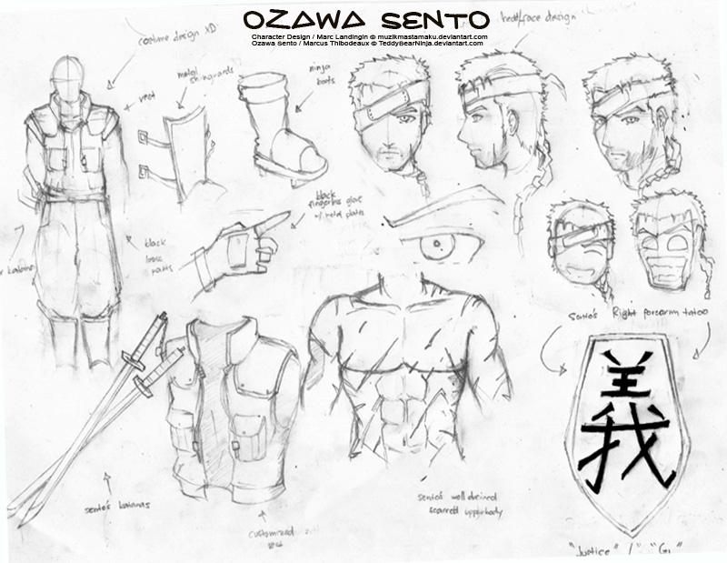 Sketch:Naruto OC - Ozawa Sento by muzikmastamaku