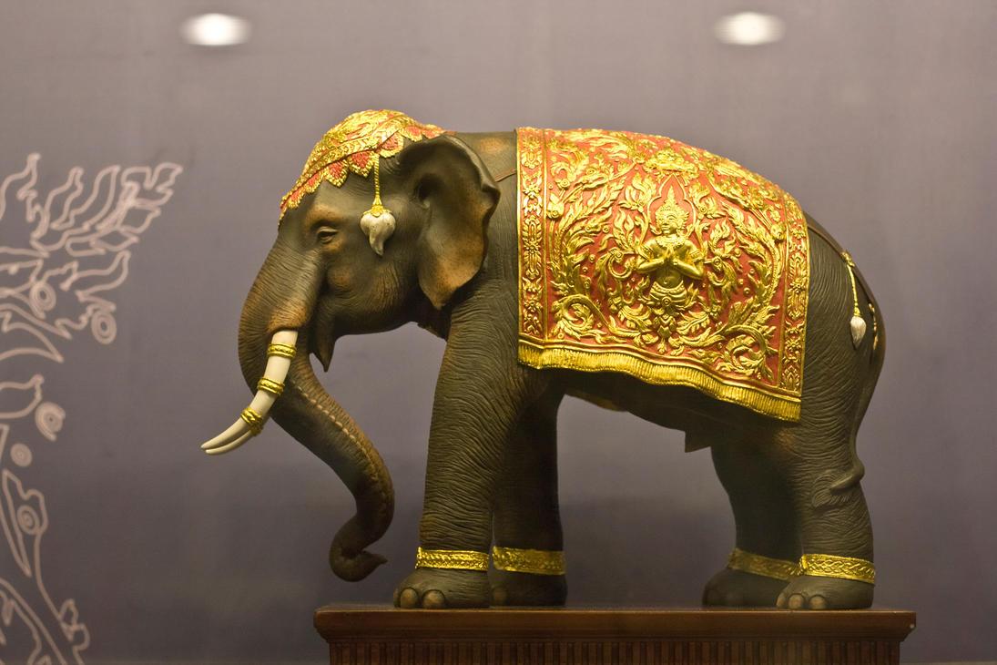 Miniature Elephant Figurine By Scorpini Stock ...
