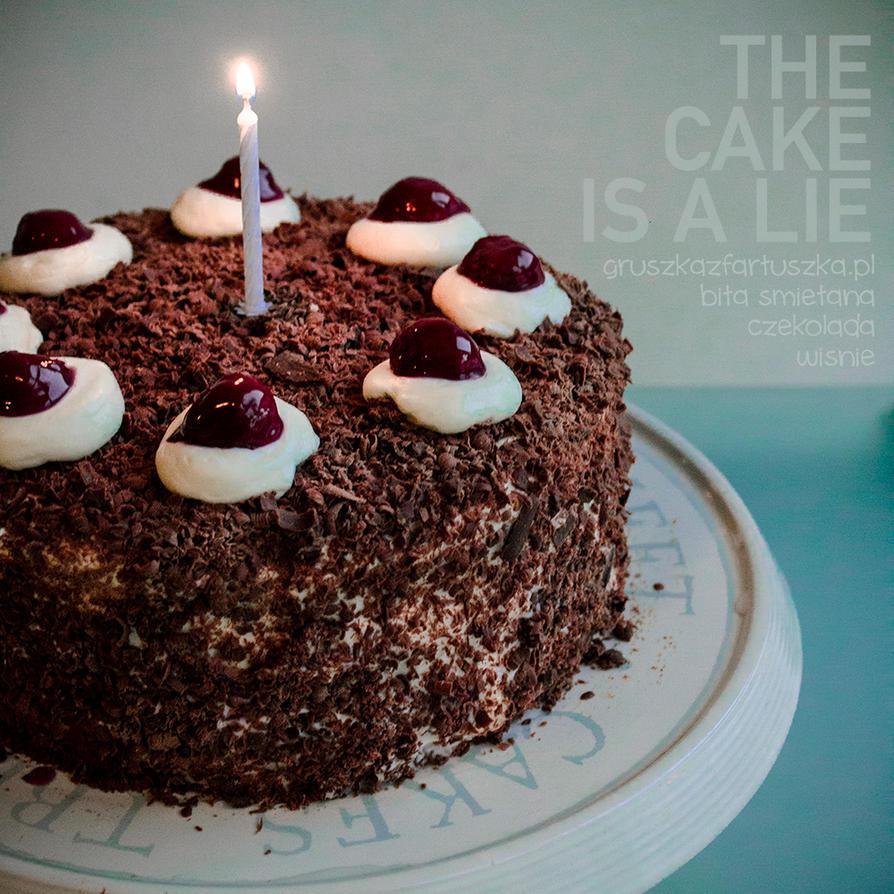 the cake is a lie by Pokakulka