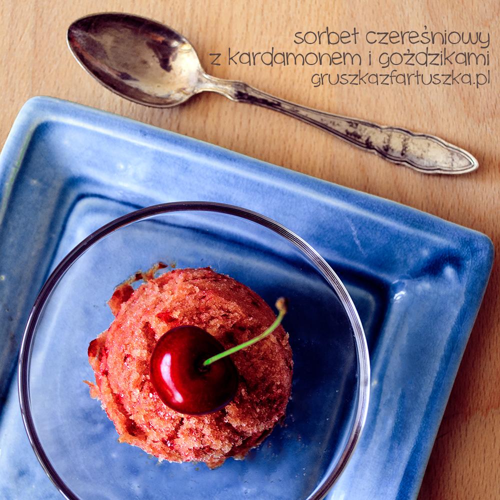 sweet cherry sorbet with cardamom and cloves by Pokakulka ...