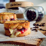 camembert and cranberry toast