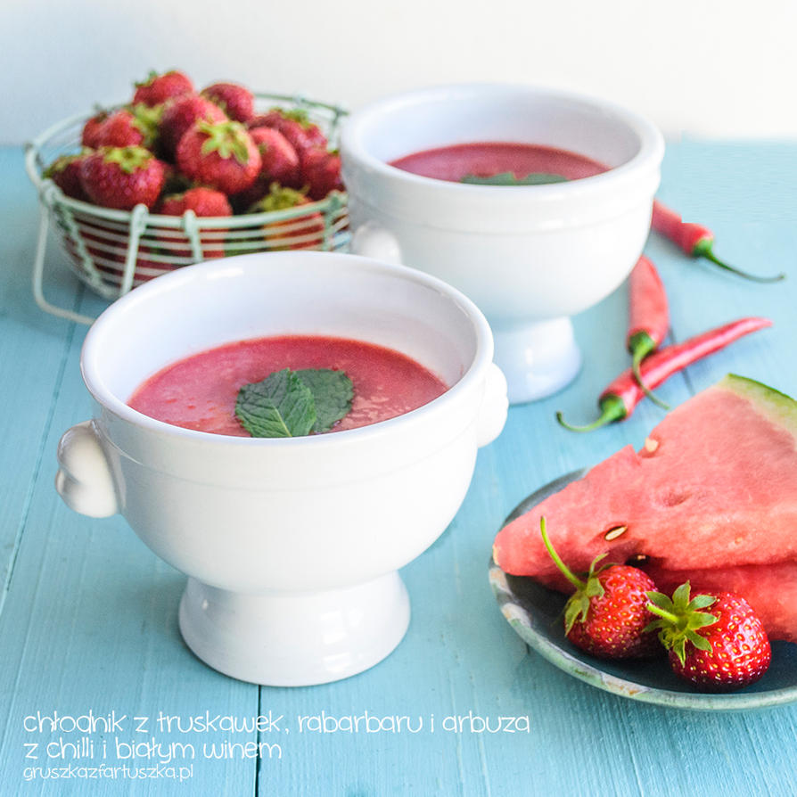 strawberry rhubarb watermelon and chilli cold soup by Pokakulka on ...