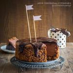 chocolate and nut cheesecake