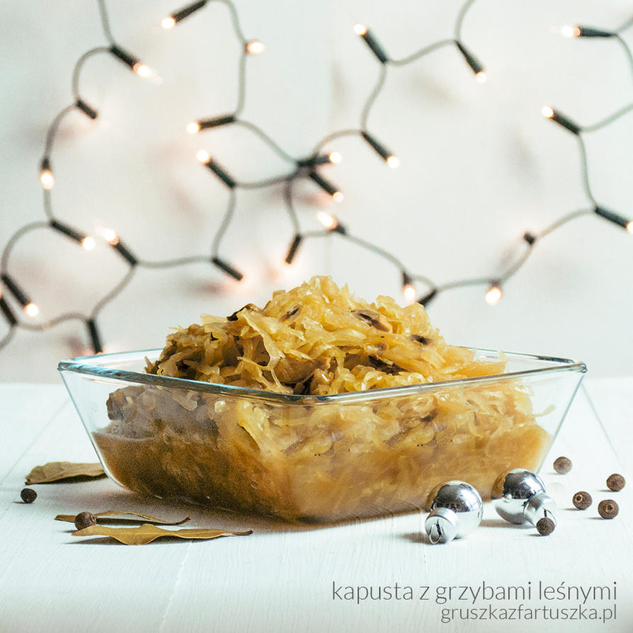 cabbage with mushrooms - classic polish christmas by Pokakulka