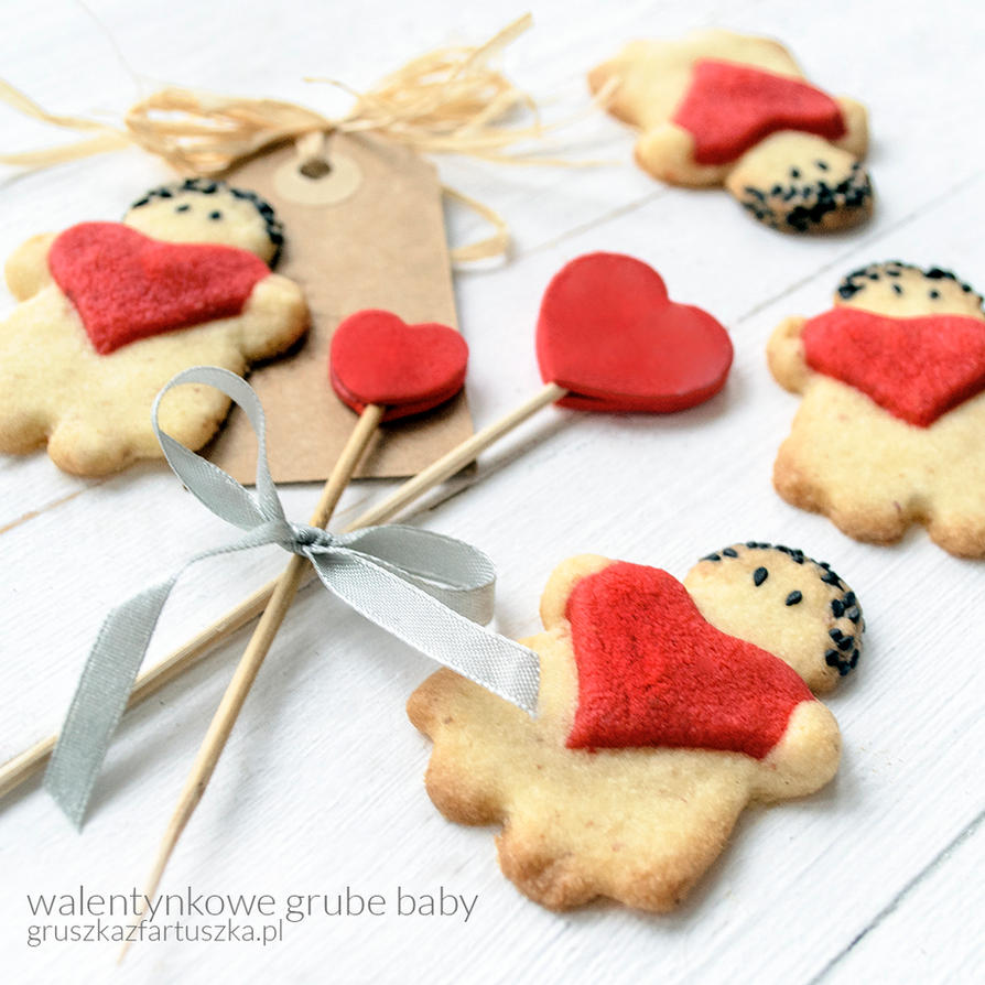 valentine fat chick cookies by Pokakulka