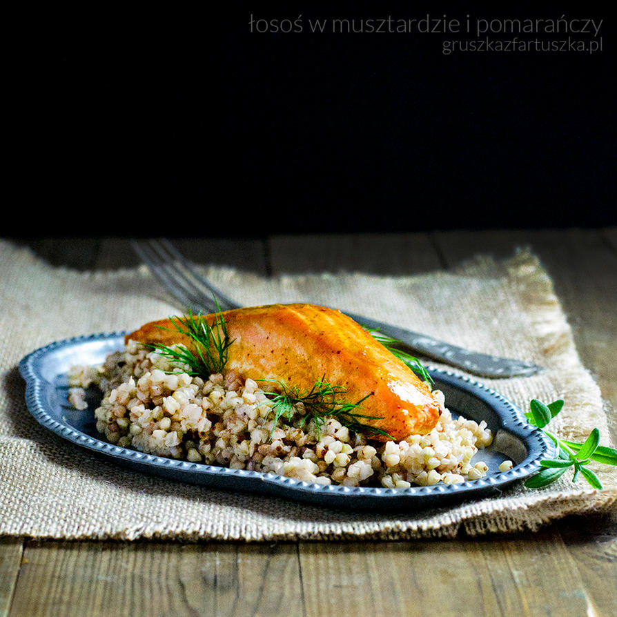 salmon with mustard and orange juice by Pokakulka