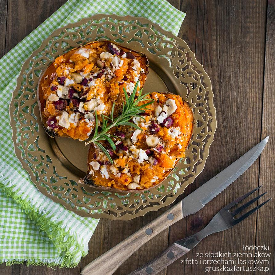 sweet potatoes, feta, hazelnuts and rosemary by Pokakulka