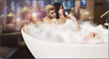 Rufus x Tifa - A well-deserved bath