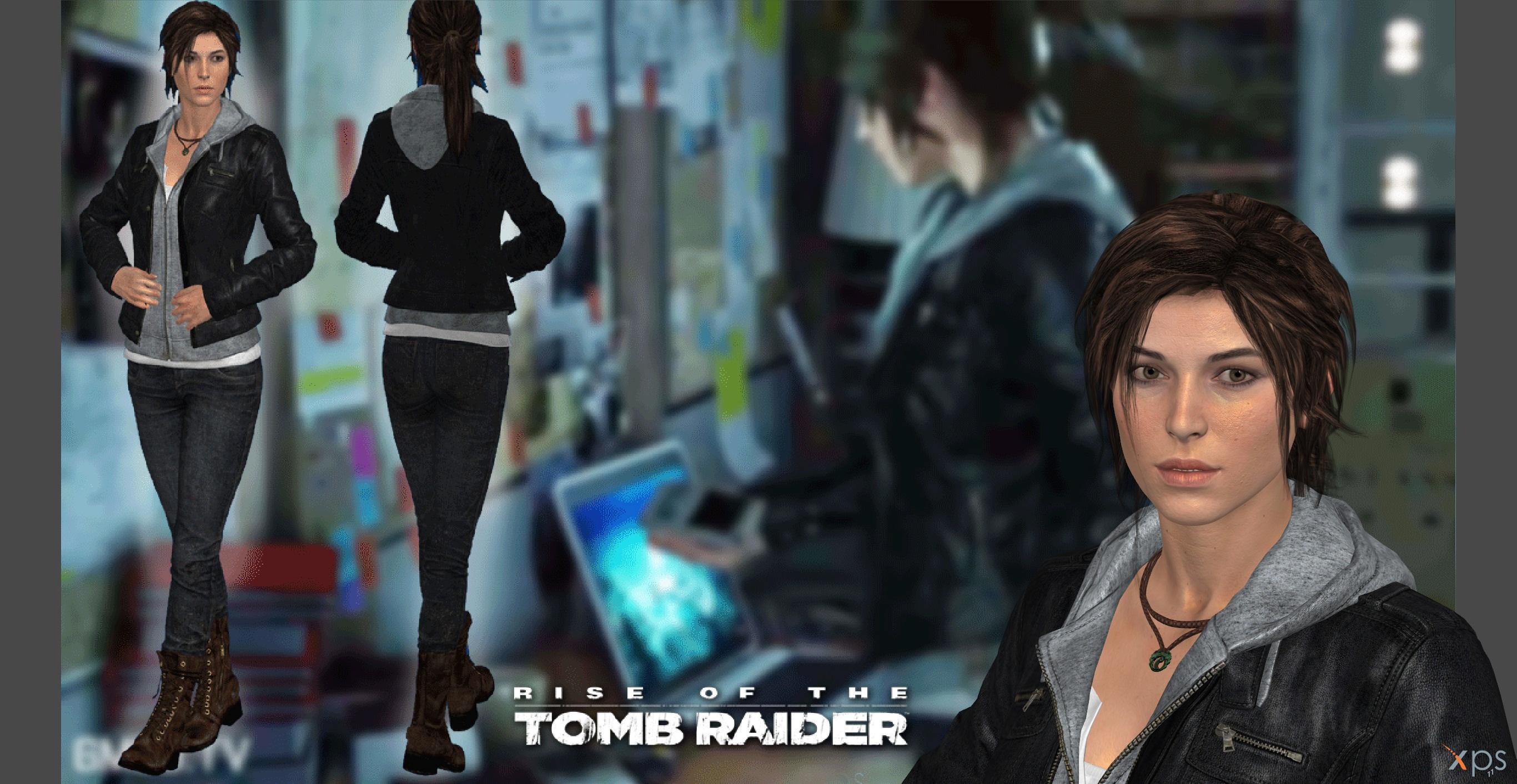 ROTTR Lara leather jacket (original head update) by IsmaelUchihaSan